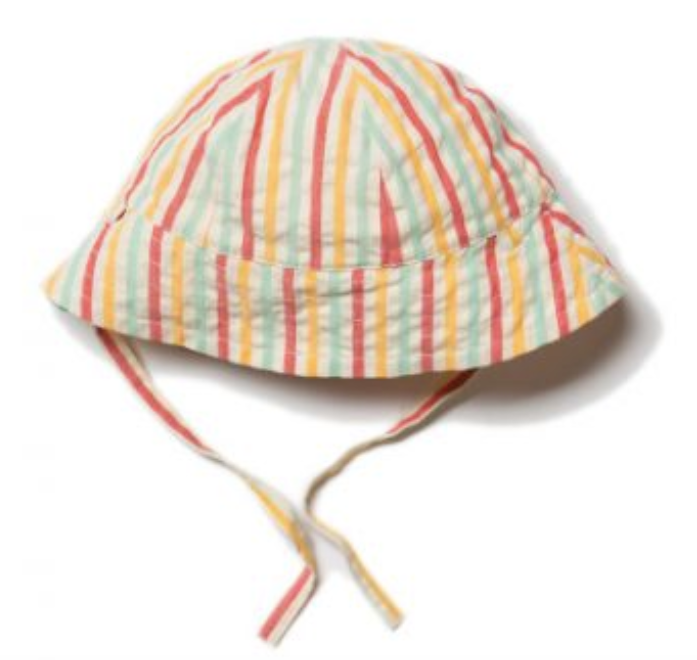 Sunset Stripe Sunhat for Babies and Toddlers | Little Green Radicals - Just Add Milk