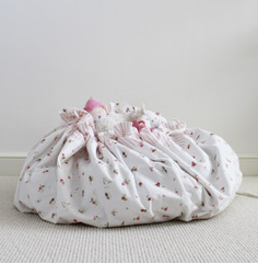 Floral Drawstring Toy Bag / Play Mat | Lime Tree London - Just Add Milk