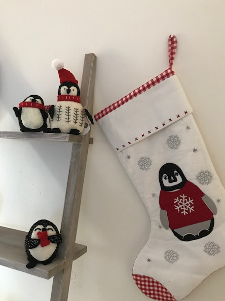 Red Penguin Stocking | Lime Tree - Just Add Milk