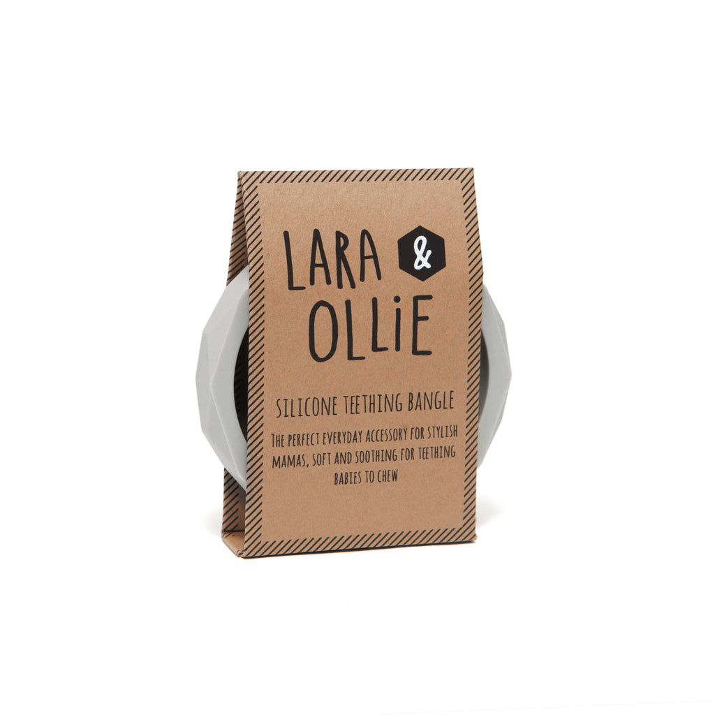Lara & Ollie Teething Bangle - Stone - Just Add Milk