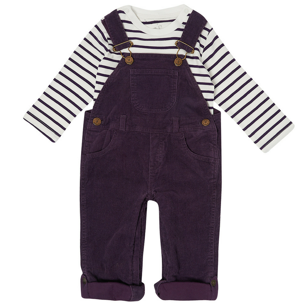 Vintage Plum Corduroy Dungarees | Dotty Dungarees - Just Add Milk