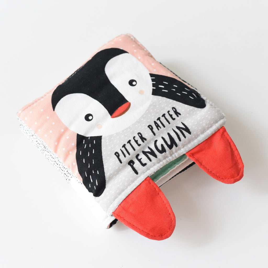 Soft Cloth Book - Pitter Patter Penguin | Wee Gallery