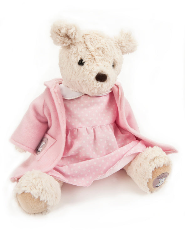 Pink night dress and dressing gown for Darcy Bear
