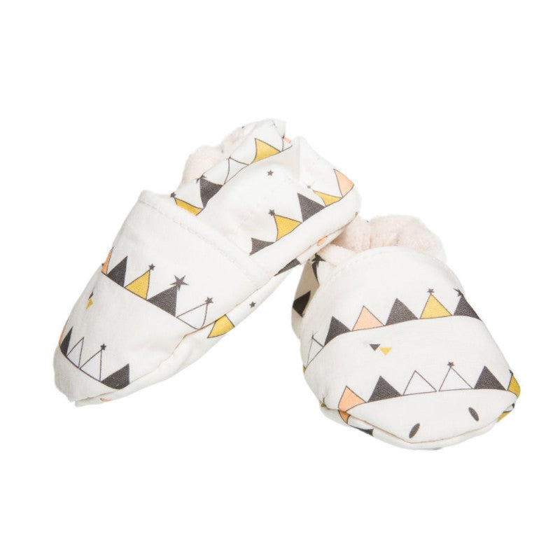 Tipi Print Cotton Baby Slippers |  Chouchouette