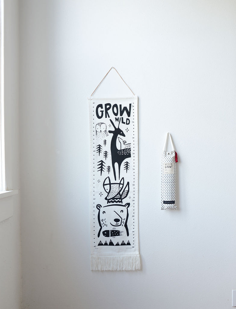 Bloom Canvas Growth Chart  | Wee Gallery - Just Add Milk