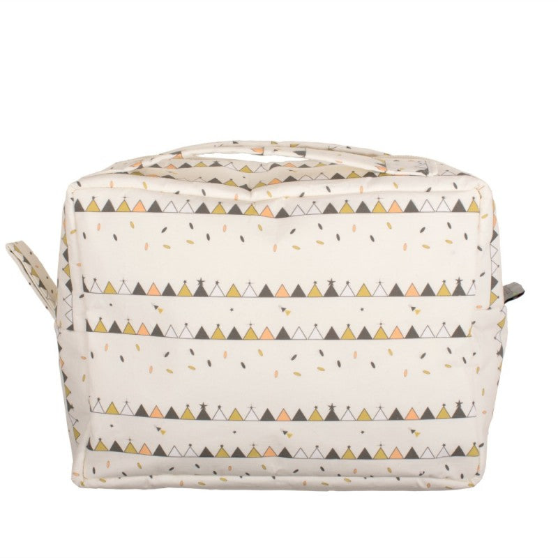 Towelling Wash Bag- Tipi Print | Chouchouette