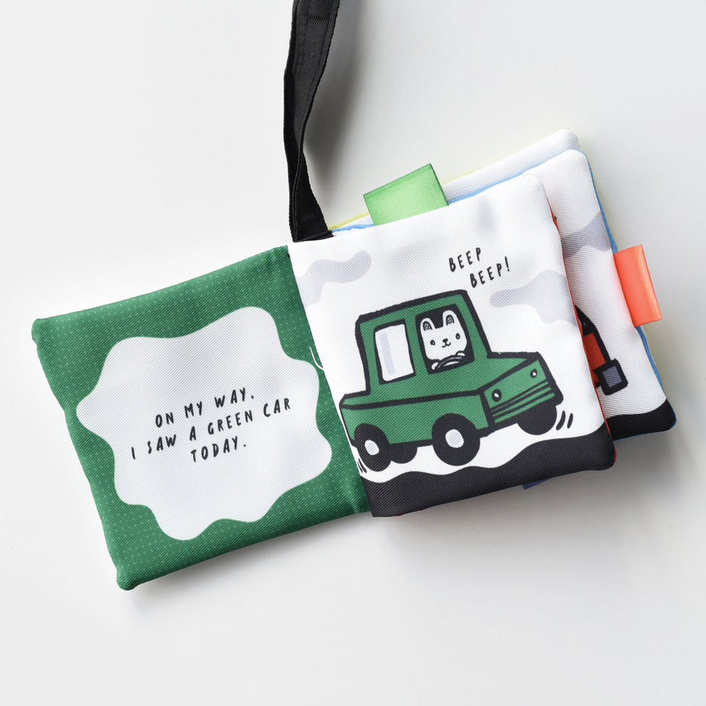 Cloth Buggy Book  'On My Way' | Wee Gallery - Just Add Milk