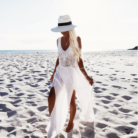 Hollow Beach Split Dress