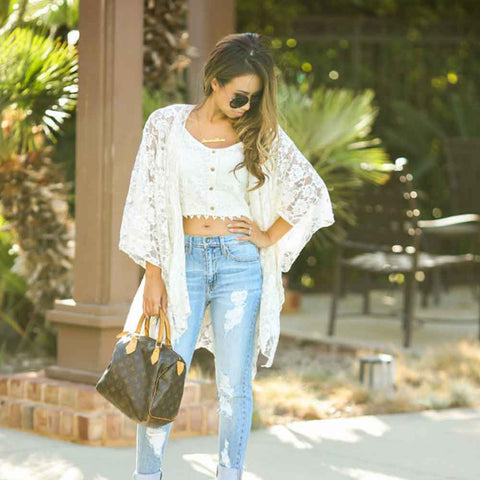 Lace Sheer Cover-up