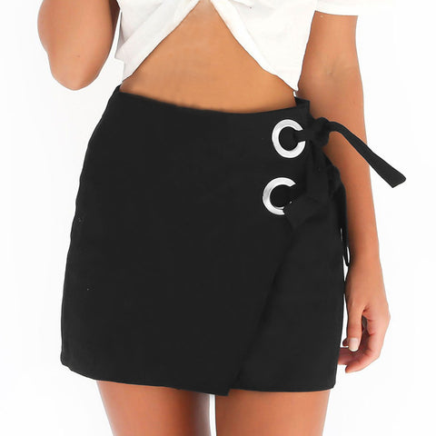 Lace-Up Bandage Skirt