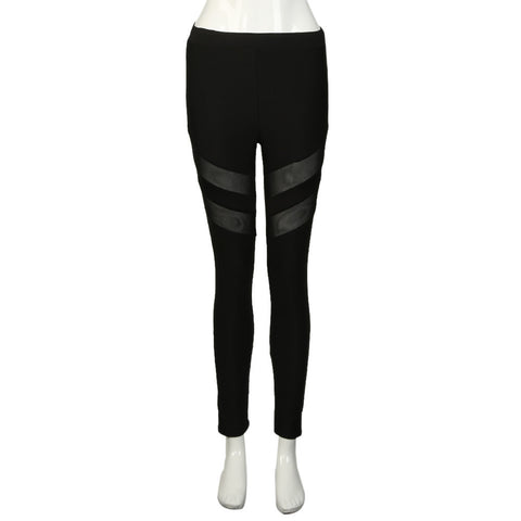 Mesh Striped Yoga Pants