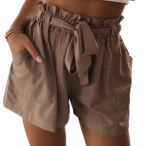 Lace Up Elastic Summer Beach Shorts