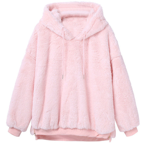 Warm Fluffy Fleece Pullover
