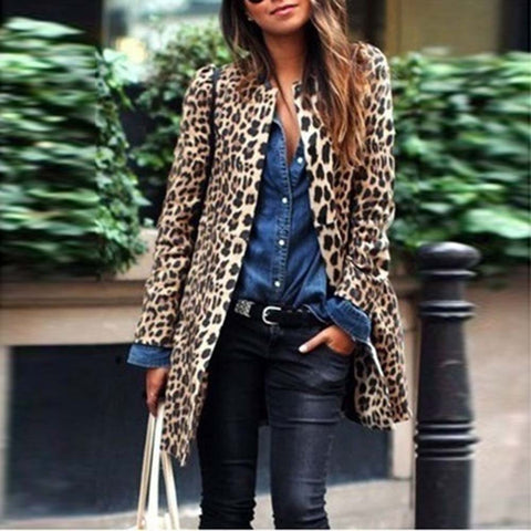 Leopard Print Long Coat