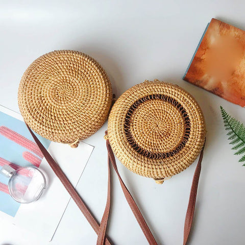 Circle Handwoven Crossbody