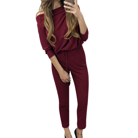 Long Sleeve Solid Color Shirt Top + Pants Set