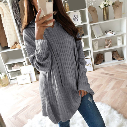 Long Pullover Knit Sweater