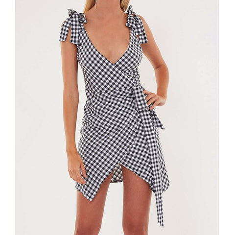 Plaid Bandage Dress