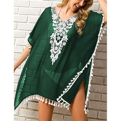 Chiffon Tassel Swimsuit Cover-up