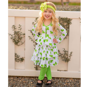 White & Lime St Patrick's Day Outfit - The Ava