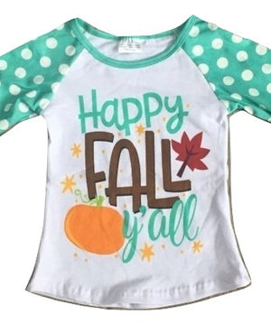Happy Fall Ya'll Raglan