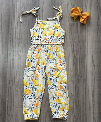 Infant Yellow Floral Romper