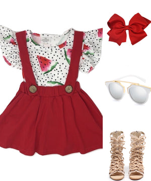Watermelon Seed Suspender Dress