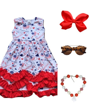 I Love America Ruffle Dress