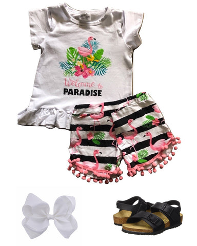 Welcome To Paradise Short Outfit