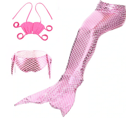 Pink Mermaid Swimsuit & Tail