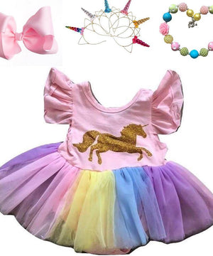 Gold Unicorn Tutu Infant Outfit