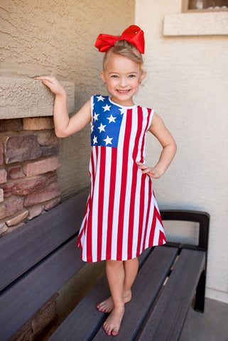 Image of 4th of July Flag Dress
