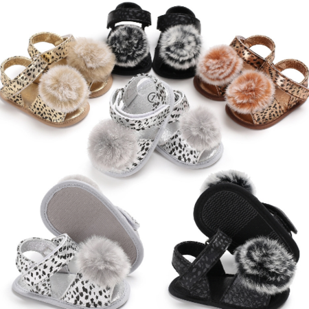 Pom Pom Leopard Shoes