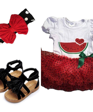Infant Outfit - Watermelon Pettiskirt