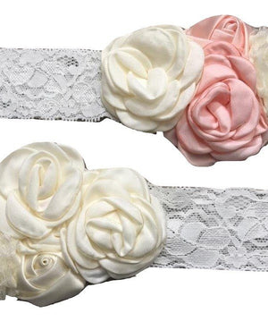 Rosette Floral Lace Headbands