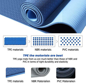 TPE Yoga Mat Non Slip with Alignment Lines