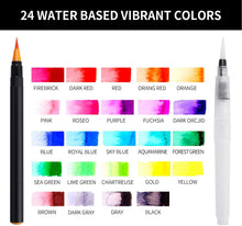 Load image into Gallery viewer, Watercolor Brush Pens 24 Colors
