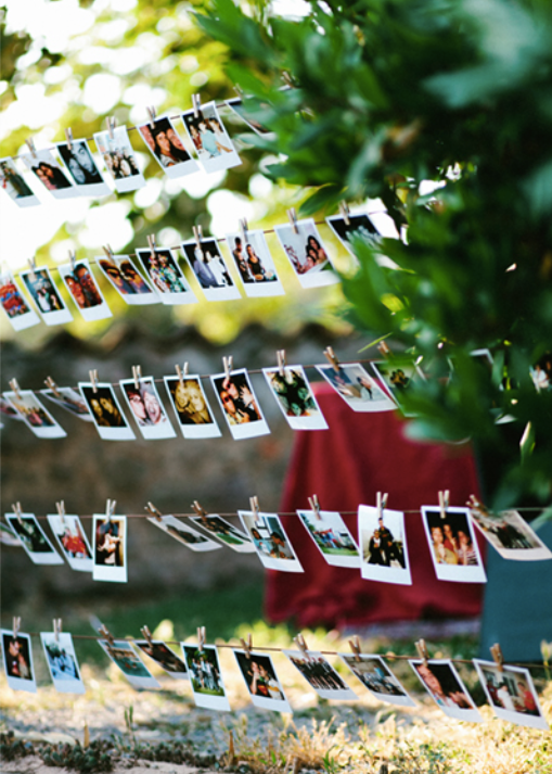 decoración de boda con fotos