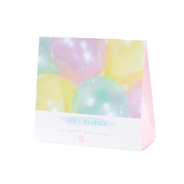 Kit globos mix pastel / 16 uds.