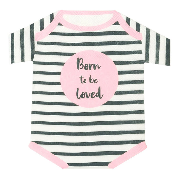 Servilleta Body Born to be loved rosa /16 uds.