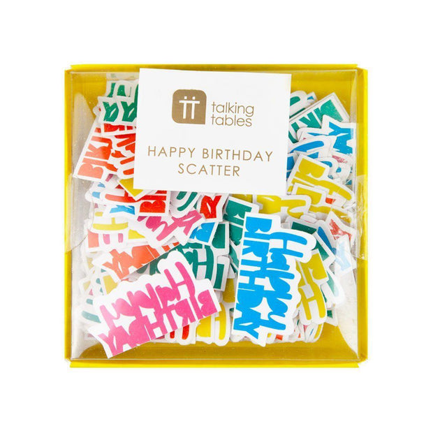 Confetti Happy Birthday foil multicolor