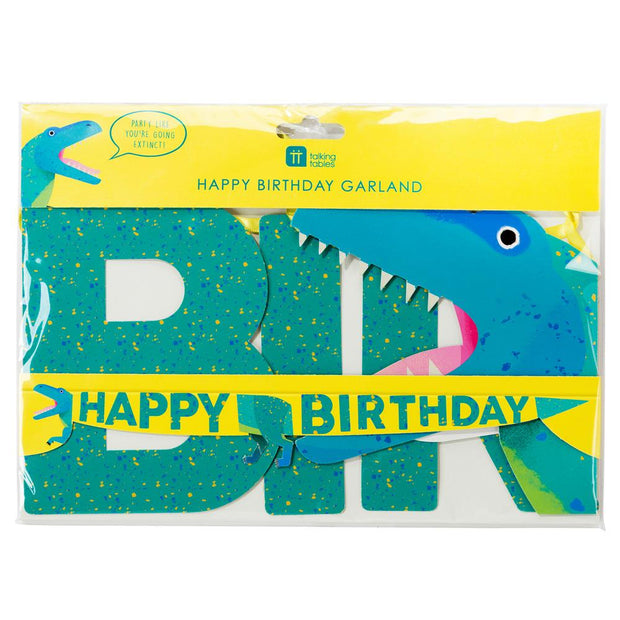Guirnalda happy Birthday dinosaurio