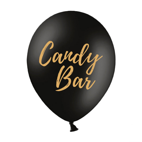 Globo negro Candy Bar / 2 uds.