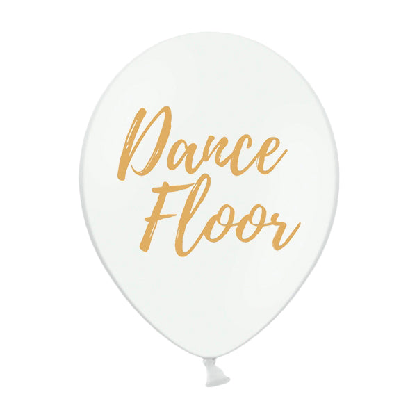 Globo blanco Dance Floor / 2 uds.