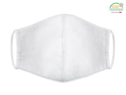 Mascarilla blanca adulto re-utilizable iones de plata