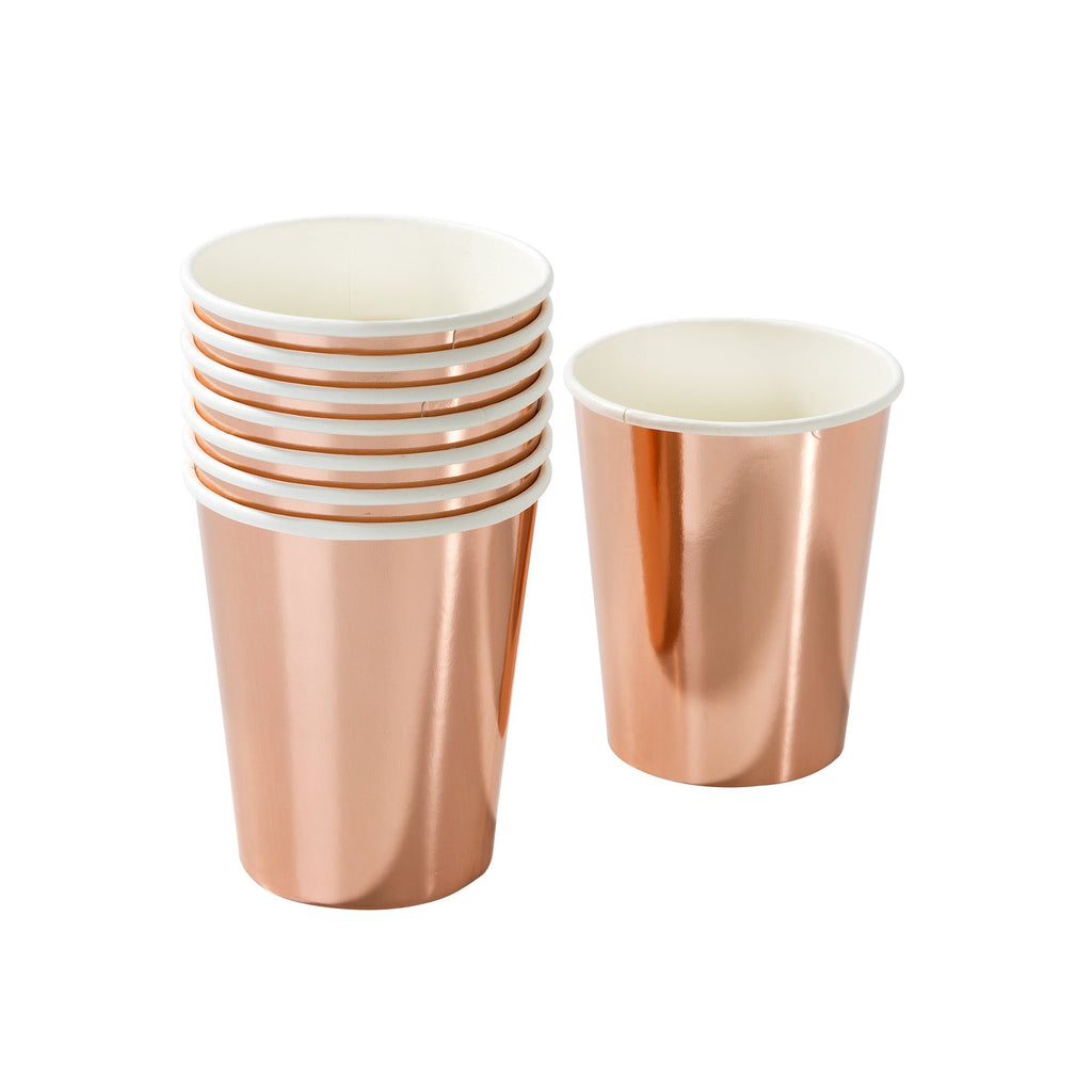 Vasos Rose Gold / 8 uds.