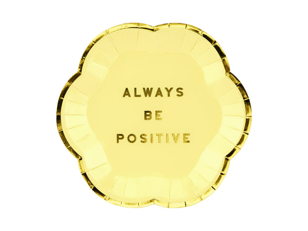 Plato mini Always Be Positive / 6 uds.