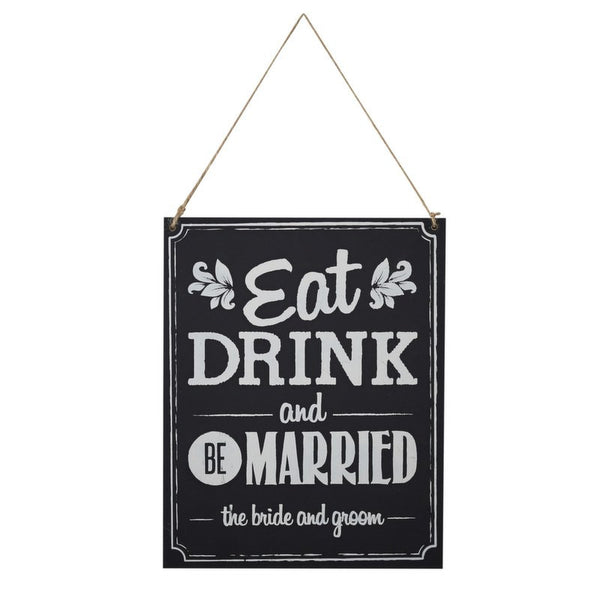 "Cartel boda ""Eat Drink & Married"" - La Fiesta de Olivia - 1"