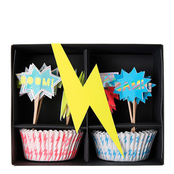 Cupcake kit superhéroe WOW