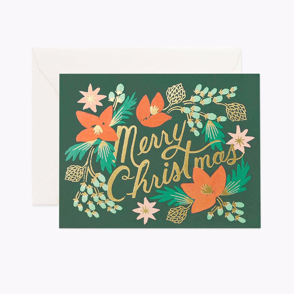 Tarjeta Wintergreen Christmas Rifle Paper & Co.